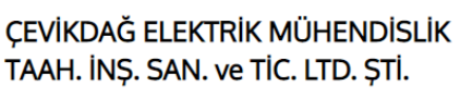 ÇEVİKDAĞ ELEKTRİK MÜH.TAAH.İNŞ.SAN VE TİC.LTD.ŞTİ.