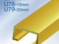 Alüminyum bordür derz - profili