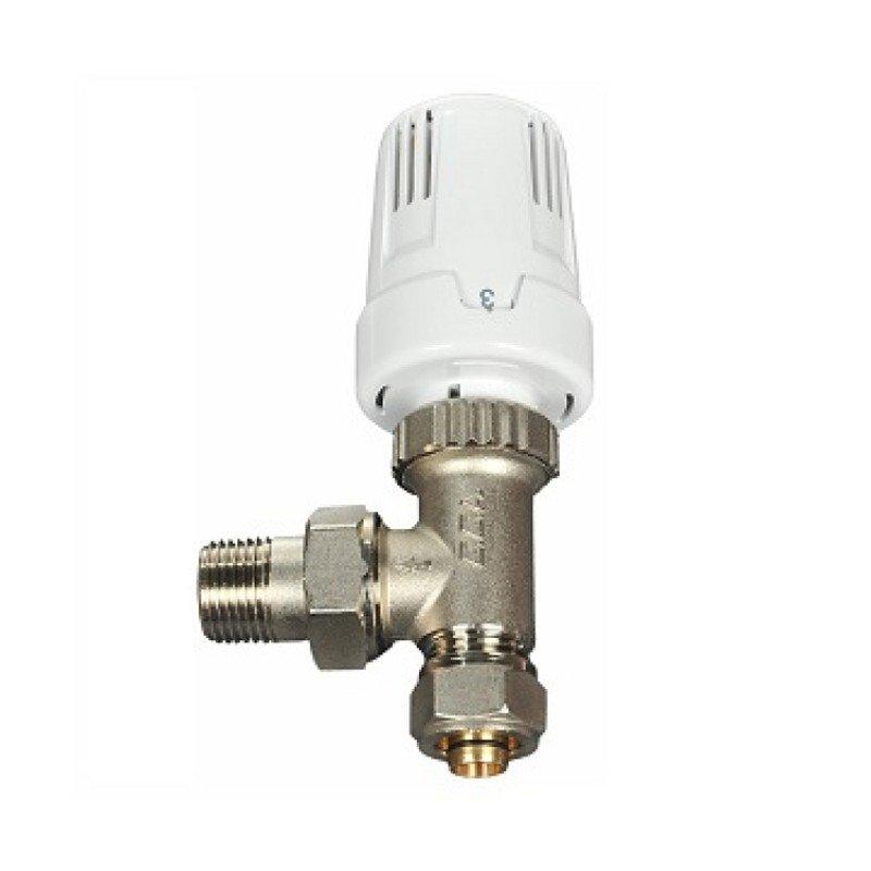 Eca 16x2 Termostatik Radyatör valfi Köşe  TRV3 Pex-Al
