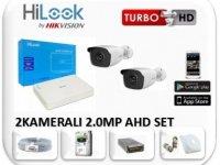 Hilook 2 Kameralı 2.0MP AHD Güvenlik Kamera Seti