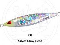 Sea Falcon Ababai Jig 180gr 01 Silver Glow Head